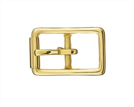 BUCKLE BRIDLE WITH ROLLER BRASS 20MM