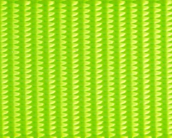 WEBBING POLYESTER FLUORO LIME #102 25MM (PER L/MTR)