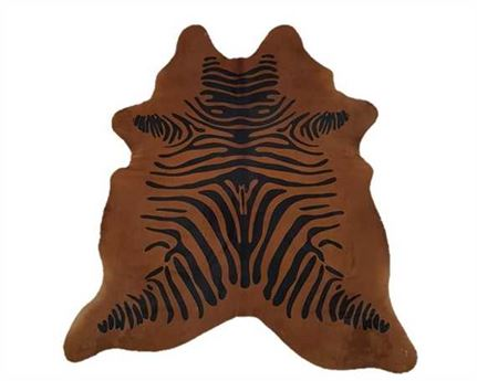 HAIR ON HIDE ZEBRA BLACK/BROWN PRINT  (rug pictured sent) Free Delivery!