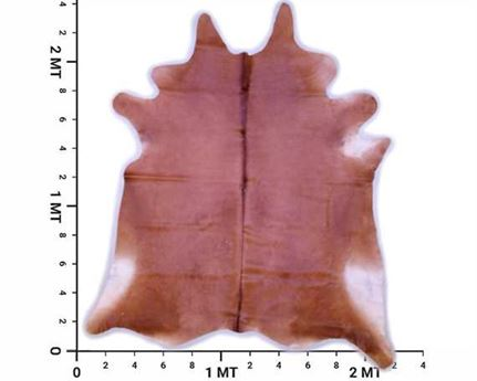 COWHIDE TOP QUALITY NATURAL COLOUR BROWN (rug pictured sent) Free Delivery!
