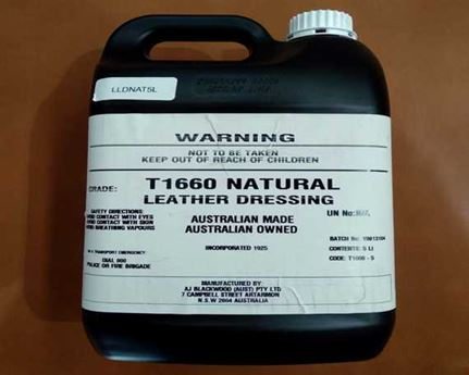 NATURAL LEATHER DRESSING 5 LITRE