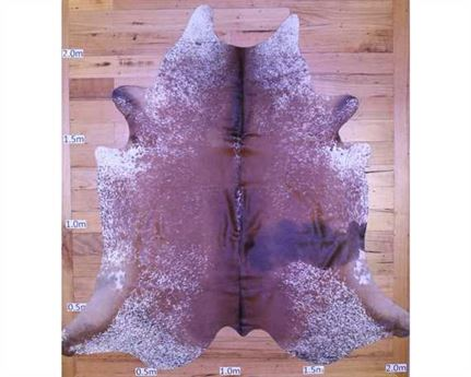 COWHIDE TOP QUALITY NATURAL COLOUR BROWN & WHITE (rug pictured sent) Free Delivery!