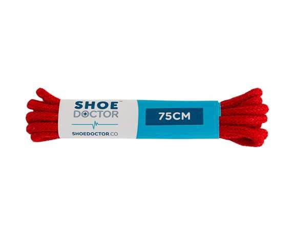 SHOE DOCTOR 75CM FINE ROUND LACE RED