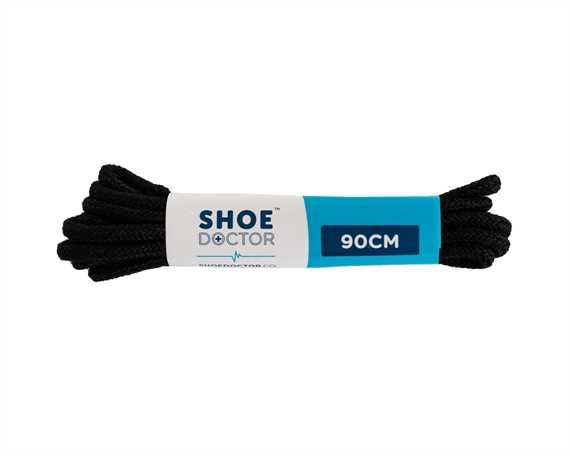 SHOE DOCTOR 90CM FINE ROUND LACE BLACK