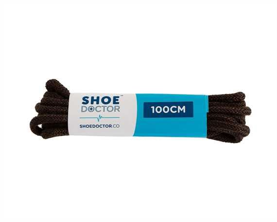 SHOE DOCTOR 100CM FINE ROUND LACE BROWN