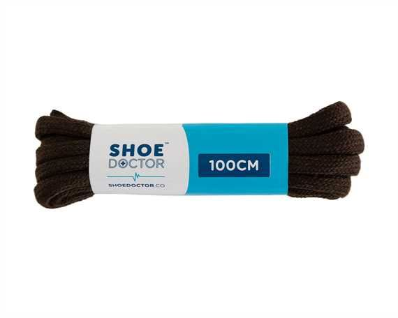 SHOE DOCTOR 100CM SPORTS ROUND LACE BROWN