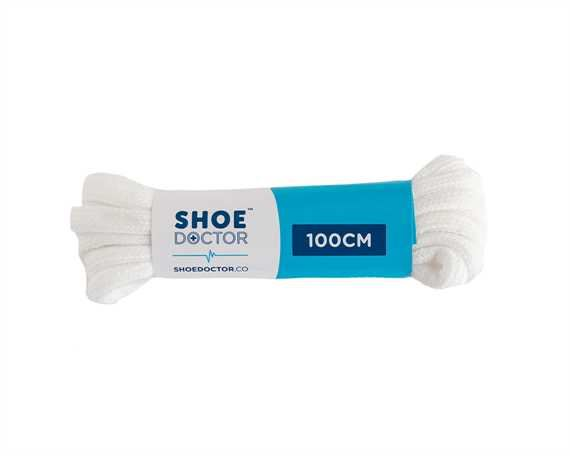 SHOE DOCTOR 100CM SPORTS ROUND LACE WHITE