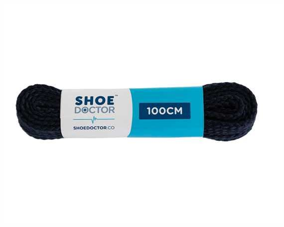 SHOE DOCTOR 100CM TRACK FLAT LACE NAVY