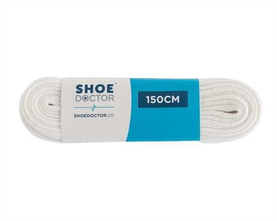 SHOE DOCTOR 150CM FLAT FOOTY LACE WHITE