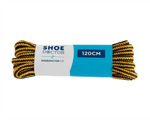 SHOE DOCTOR 120CM HIKER LACE BROWN/ YELLOW