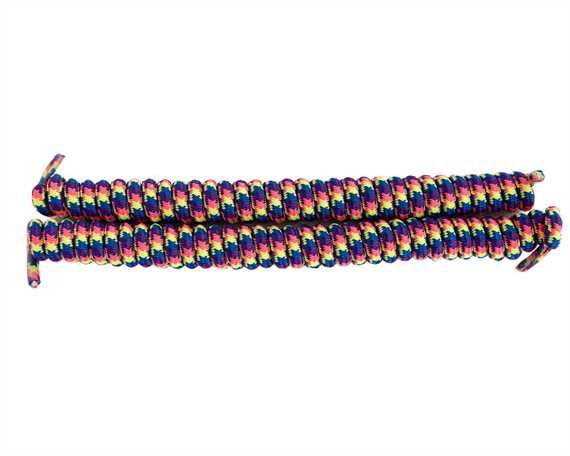 SHOE DOCTOR 120CM SPIRAL LACE RAINBOW