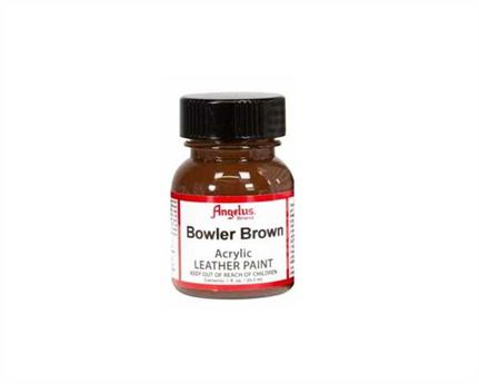 ANGELUS ACRYLIC PAINT BOWLER BROWN #273 29ML USE ON LEATHER, VINYL OR FABRIC