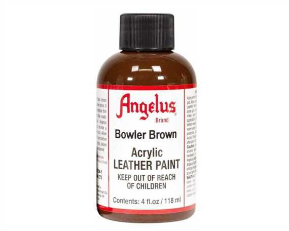 ANGELUS ACRYLIC PAINT BOWLER BROWN #273 118ML USE ON LEATHER, VINYL OR FABRIC