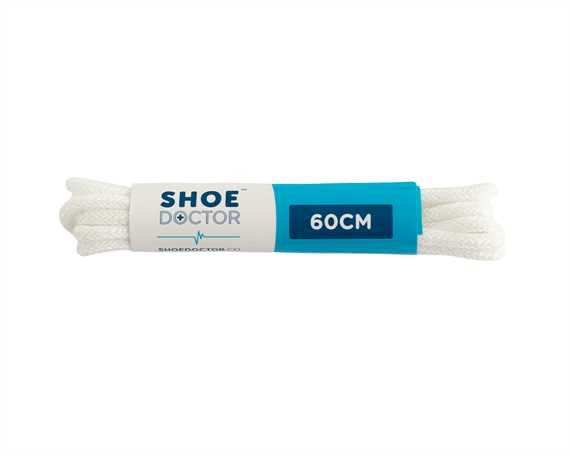 SHOE DOCTOR 60CM FINE ROUND LACE WHITE