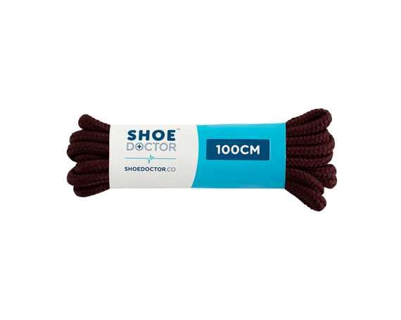 SHOE DOCTOR 100CM THICK ROUND LACE BURGUNDY