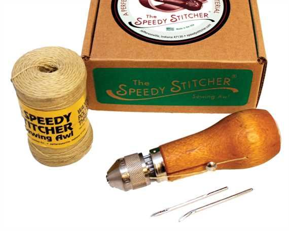 SPEEDY STITCHER SEWING AWL + XTRA NEEDLES + THREAD BOXED #110