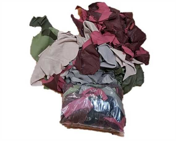 SHEEP LEATHER SCRAP PIECES IN A 1 KILOGRAM BAG MIXED COLOURS
