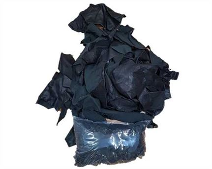 SHEEP LEATHER SCRAP PIECES IN A 1 KILOGRAM BAG BLACK