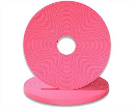 "BIOTHANE STRAPPING BETA STD FLUORO PINK (5/8"") 16MM (PER L/FT)"