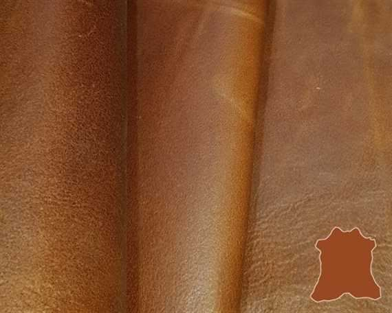 WAXY SMALL HIDE TAN 0.9/1.1MM LEATHER FROM SPAIN