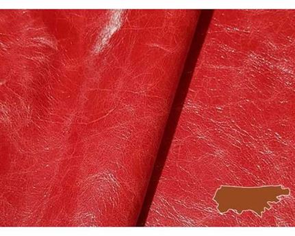 DAKOTA PULL UP COW SIDES 0.6/0.8MM RED LIGHTWEIGHT LEATHER