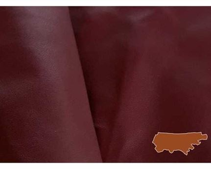 GARMENT LEATHER MILANO SIDES BURGUNDY (SQ FT)