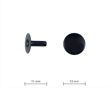 BLACK 12MM CAP AND STEM RIVET #2090374020