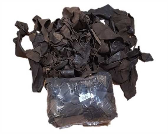 LEATHER SCRAP BROWN PIECES IN A 1 KILOGRAM BAG