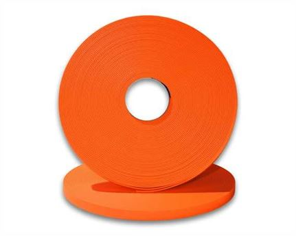 "BIOTHANE STRAPPING BETA STD FLURO ORANGE (5/8"") 16MM (PER L/FT)"