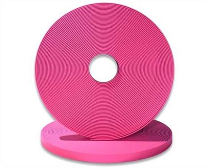 "BIOTHANE STRAPPING BETA STD PINK (5/8"") 16MM (PER L/FT)"