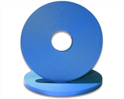 "BIOTHANE STRAPPING BETA STD CYAN (5/8"") 16MM (PER L/FT)"