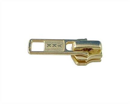 ZIP RUNNERS #5 FOR METAL ZIPS - GOLD LOCKING