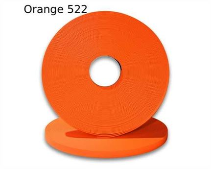 "BIOTHANE STRAPPING BETA STD FLUORO ORANGE (3/4"") 19MM (PER L/FT)"
