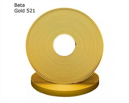 "BIOTHANE STRAPPING BETA STD GOLD (5/8"") 16MM (PER L/FT)"