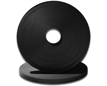 "BIOTHANE STRAPPING BETA STD BLACK (1"") 25MM (PER L/FT)"