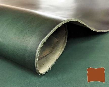 VEG TANNED DOUBLE SHOULDER GREEN #322 2.0MM LEATHER FROM TUSCANY ITALY.