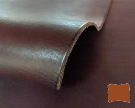 VEG TANNED DOUBLE SHOULDER BROWN HEAVY MILLED 3.6/3.8MM LEATHER FROM TUSCANY ITALY.
