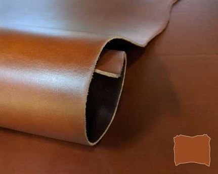 VEG TANNED DOUBLE SHOULDER TAN 2.8/3.0MM LEATHER FROM TUSCANY ITALY