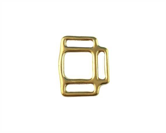 SQUARE HALTER 3 LOOP ENGLISH BRASS 20MM