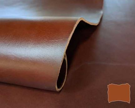 VEG TANNED DOUBLE SHOULDER COGNAC 2.8/3.0MM LEATHER FROM TUSCANY ITALY.