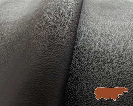 MOTORCYCLE COW SIDES HEAVY BLACK 1.2/1.4MM HEAVYWEIGHT GARMENT LEATHER