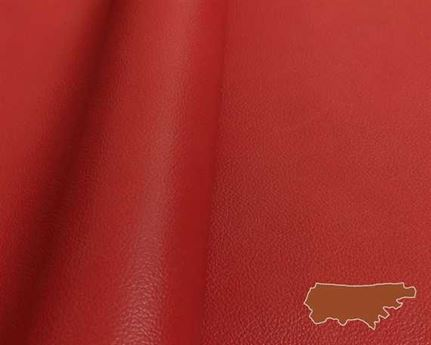 MOTORCYCLE COW SIDES HEAVY RED 1.2/1.4MM HEAVYWEIGHT GARMENT LEATHER