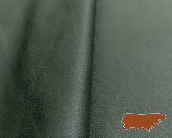 GARMENT LEATHER MILANO SIDES GREEN (SQ FT)