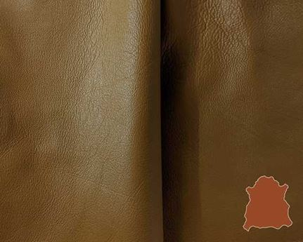 GARMENT SHEEP NAPPA FINISHED 0.6/0.9MM CARAMEL LIGHTWEIGHT LEATHER