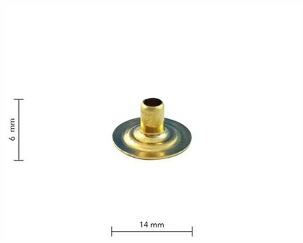 PRESS STUD EYELET GILT LARGE DU PKT 100
