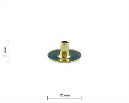 PRESS STUD EYELET GILT MINI DU PKT 100
