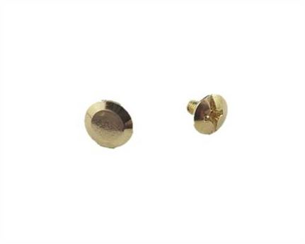 SCREW CHICAGO BEVELLED HEAD GILT 6mm Stem 9mm Diameter