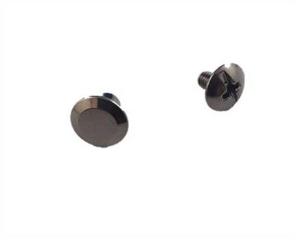 SCREW CHICAGO BEVELLED HEAD GUN METAL 6mm Stem 9mm Diameter