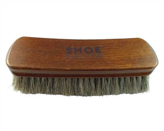 SHOE DOCTOR SHOE BRUSH HORSE HAIR JUMBO SIZE with WOODEN HANDLE