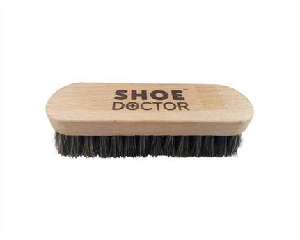SHOE DOCTOR BRUSH SHOE HORSE HAIR MEDIUM SIZE with WOODEN HANDLE